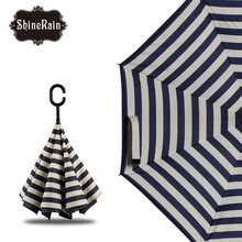 lily upside-down reverse umbrella promotional travel umbrella hands free cell phone upside down