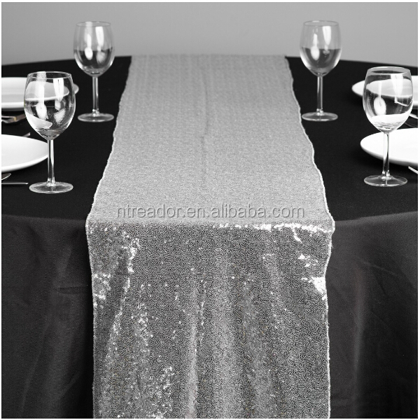 Cheap Silver Sequin Dining Table Runner