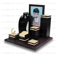 new products on china market unique design 5 pieces quality assured jewelry display stand
