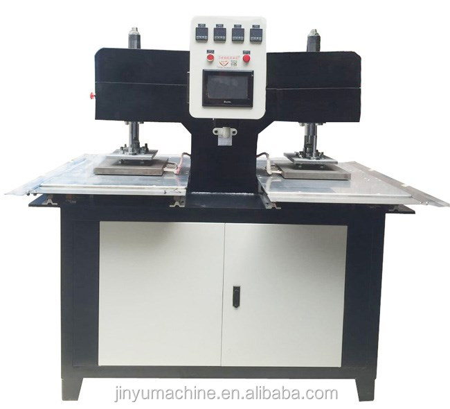 2 working stations woven labels garment label machine,tradematks equipment label embossing machine