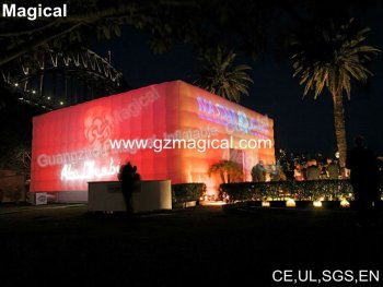 cube inflatable with lighting