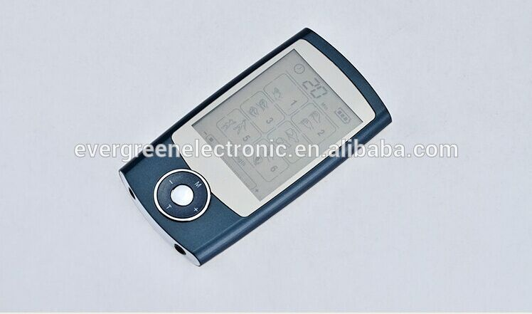 dual output electro muscle acupuncture stimulator portable slimming massager with large LCD EG-TM10