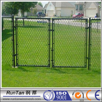 direct manufacturer chain link fence double swing gate ( ISO9001-2008 )