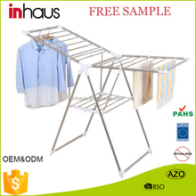 SGS BSCI approved promotional factory supply folding standing clothes dryer rack