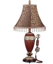 European table lamp study telephone LED1 carved antique 220V decorative lamp zx