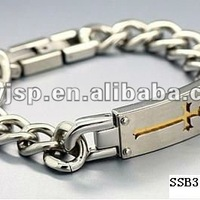 Golden Cross Stainless Steel Bracelet