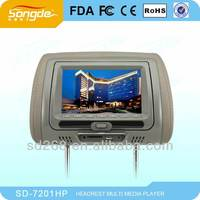 7 inch Detachable panel Headrest dvd with MP5 function