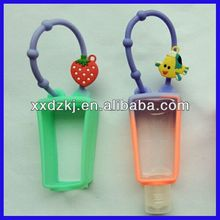 beautiful hand sanitizer silicone cover pocket gel holder for promotion