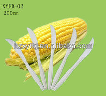 Biodegradable disposable cornstarch plastic knife 7inch