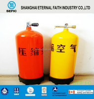 Color can be chosen Soft Drink Additive Refillable Aluminium High Pressure CO2 Gas Cylinder