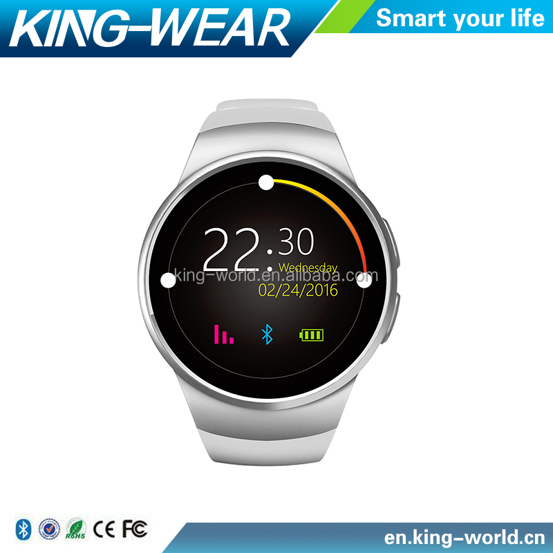 Kingwear KW18 Smart Watch Bluetooth Heart Rate Monitor Intelligent smartWatch Support SIM TF Card for iOS and Android Phone