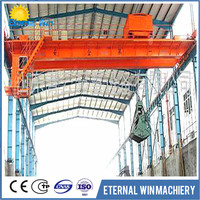 double girder Grab Bucket Overhead Crane 20 ton with claw