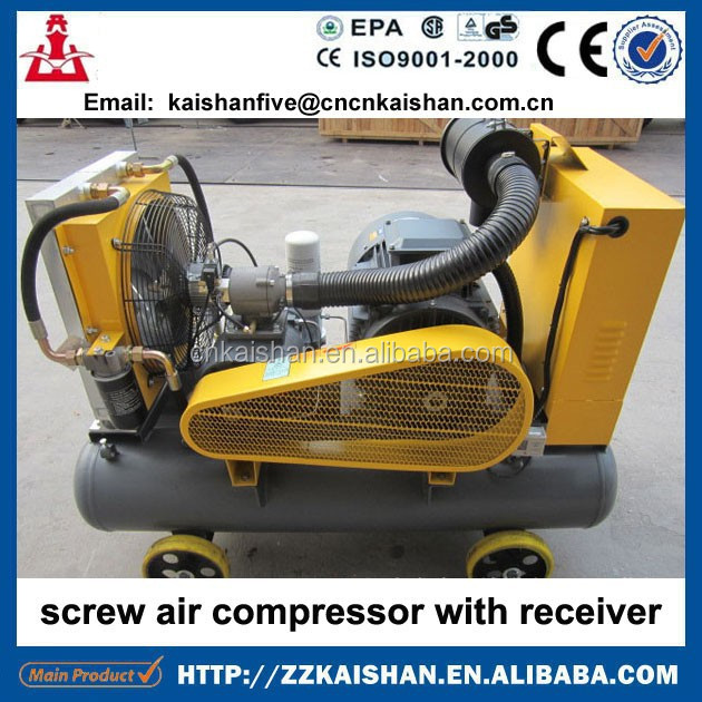 For Mining Use Portable Screw Air Compressor Powered By Electric Motor