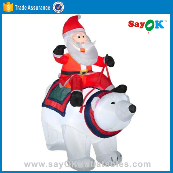 Giant Inflatable Christmas Santa Claus in Chair Christmas inflatable decoration from China