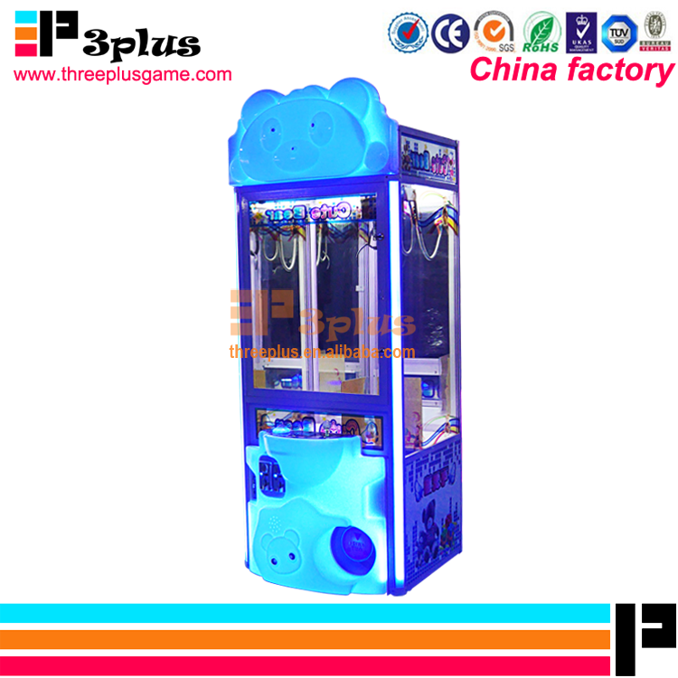 Threeplus christmas promotion shopping mall coin operated arcade game mini toy crane machine