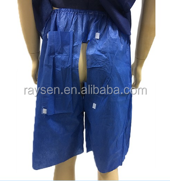 Raysen disposable medical colonoscopy super soft hospital patient pants