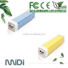 Beautiful Cute Mini Portable For Lipstick Power Bank Charger 2600mAh