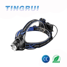 Factory Supply Alloy Aluminum Zoomable Headlamp Rechargeable Led Headlight
