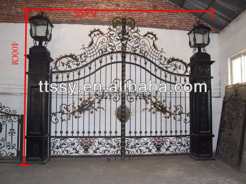 Perfect Wrought Iron Gates Models For Homes / Iron Gate Designs   Buy Wrought Iron  Gates Models For Homes,Iron Gate Designs,Garden Iron Gate Price Product On  ...
