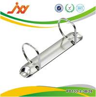 metal D ring hole reinforcing binder mechanism