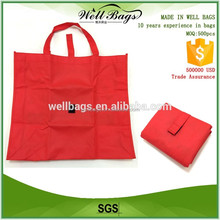 china factory logo printed custom foldable non woven bag shopping with velcro