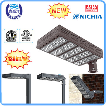 For outdoor lighting 130lm per watt DLC ETL led parking lot light led shoe box 300w