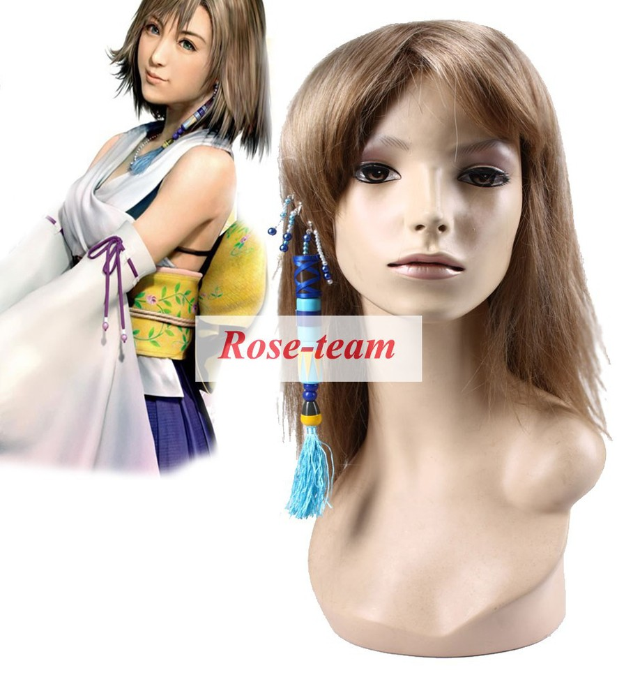 Rose-team Fantasia Anime Cosplay Made Final FantasyX-2 Yuna Ear-ring Cosplay Props