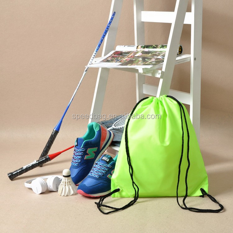 Newest design badminton equipment drawstring bag wholesale nylon drawstring bag