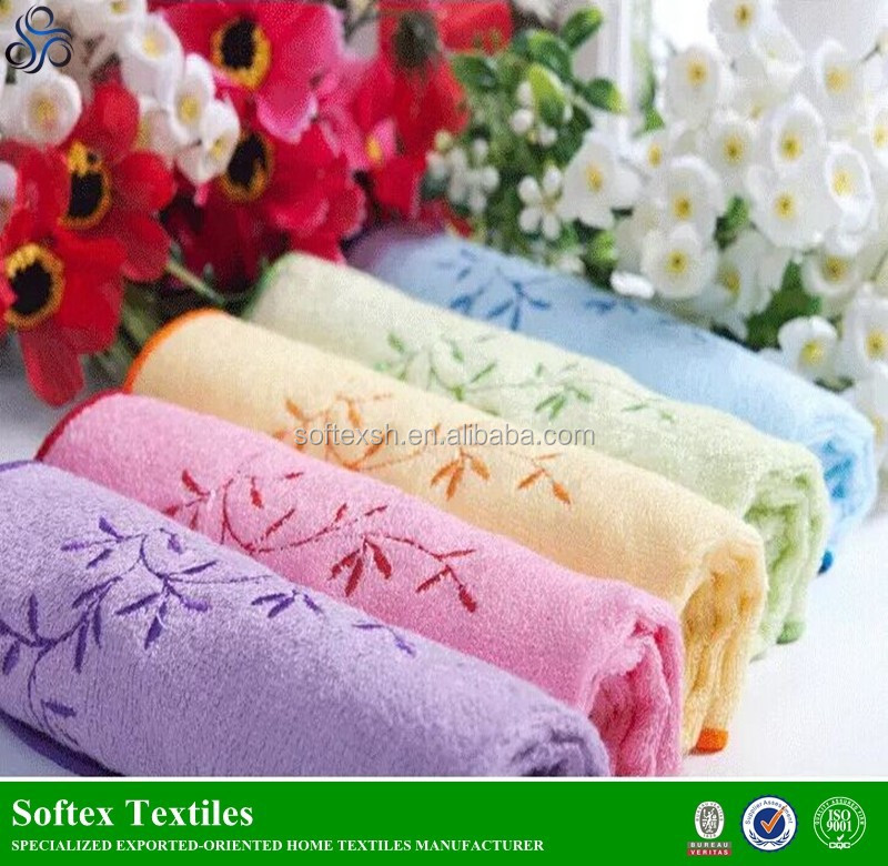 China bamboo machine embroidery hand wet towel