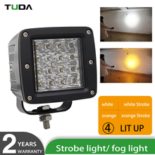 Aluminum Housing 24 Volt 5000 Lumen 48W Flash Strobe Warning Led Machine Work Light For Forklift