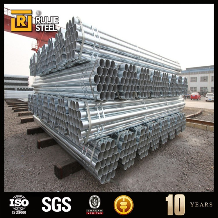 4 inch square steel pipe, pre galvanized pipe with thread & clamp, black iron steel tube