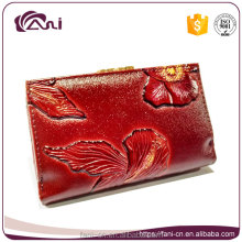 latest design oem print ladies women wallets money purse 2017