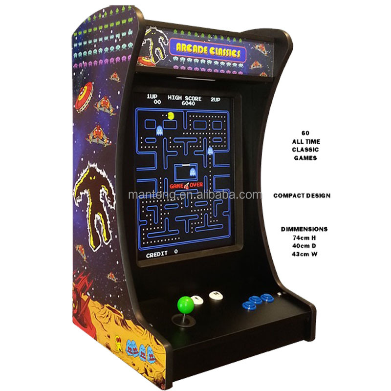 Pac Man Table Top Classic Arcade Games Mini Cocktail Table