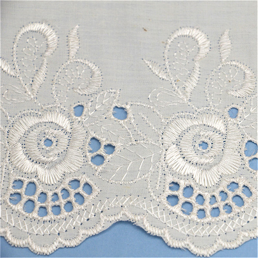 New Design Embroidery Lace Textile Fabric With Holes