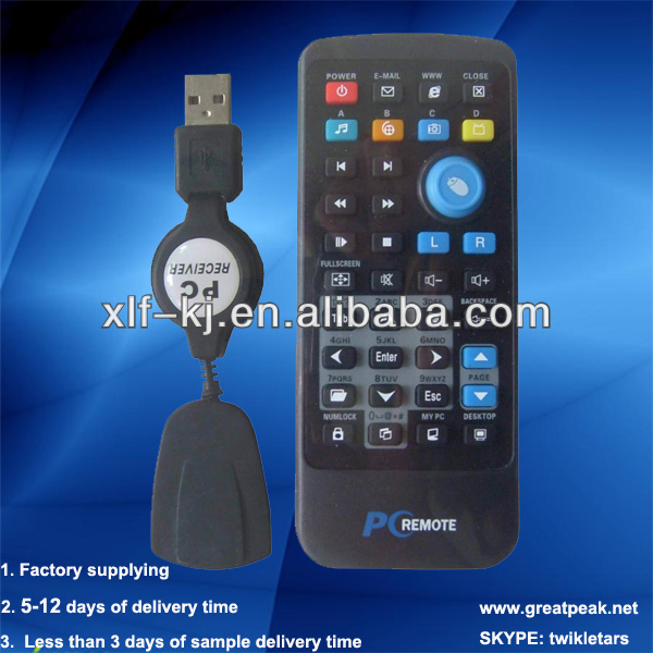 Infrared 37 keys usb game remote controller for laptop computer