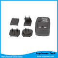 RoHS TUV CB CE FCC Approved Universal International Travel Interchangeable Plug Power Adapter 5V 2A