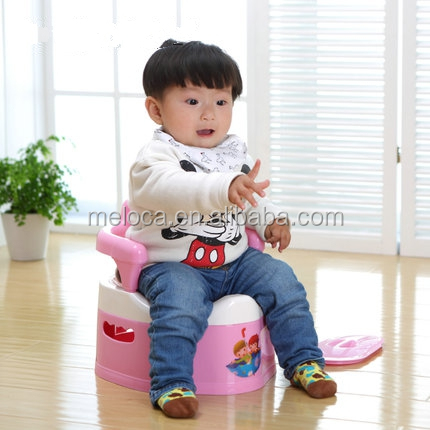 High quality cartoon pattam with backrest plastic multi-functional baby toilet potty training seat chair