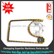 burma hao jue double sprocket roller,CG 150 KS parts for chinese scooter,Boxer CT engine sprocket