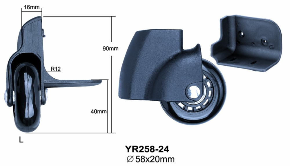 China manufactor wholesale luggage handle parts and wheels