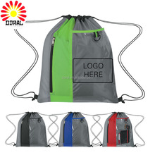China Factory Cheap Price 210D Polyester Drawstring Gym Bags For Hiking