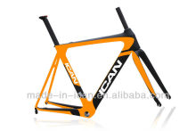ICANBIKES Yellow Painted Carbon Road Bike Frame set ,including Frame ,Fork ,Seat post ,clamp ,headset
