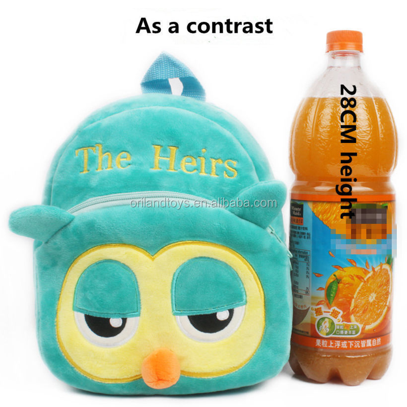 kids school plush backpack children bags fashion animal backpacks wholesale