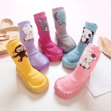 wholesale funny cute anti-slip rubber sole shoe socks for kids