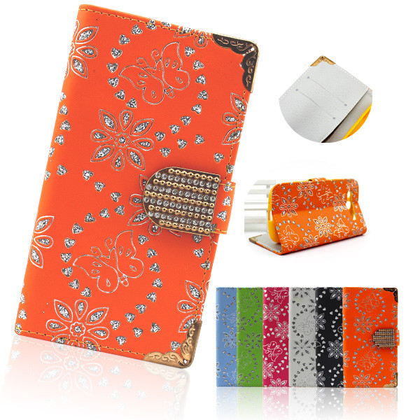 2014 Bling Diamond Magnetic Wallet Leather Flip Phone Case For Samsung Galaxy S3 I9300