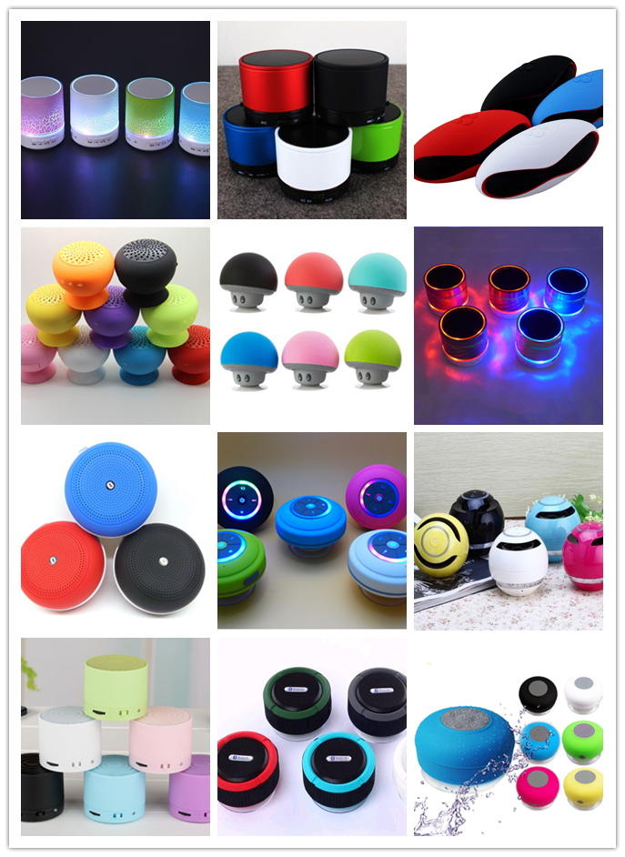 Portable out door wireless mini Colorful 360 LED light super bass stereo bluetooth speaker Support NFC and TF card speaker