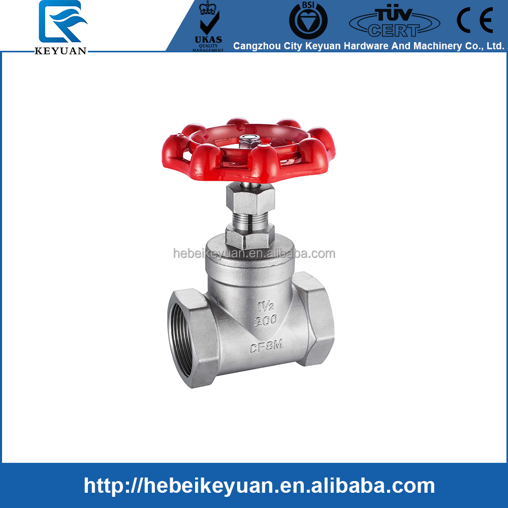 PN16 stainless steel ss304 screwed gate valves 1 1/2""