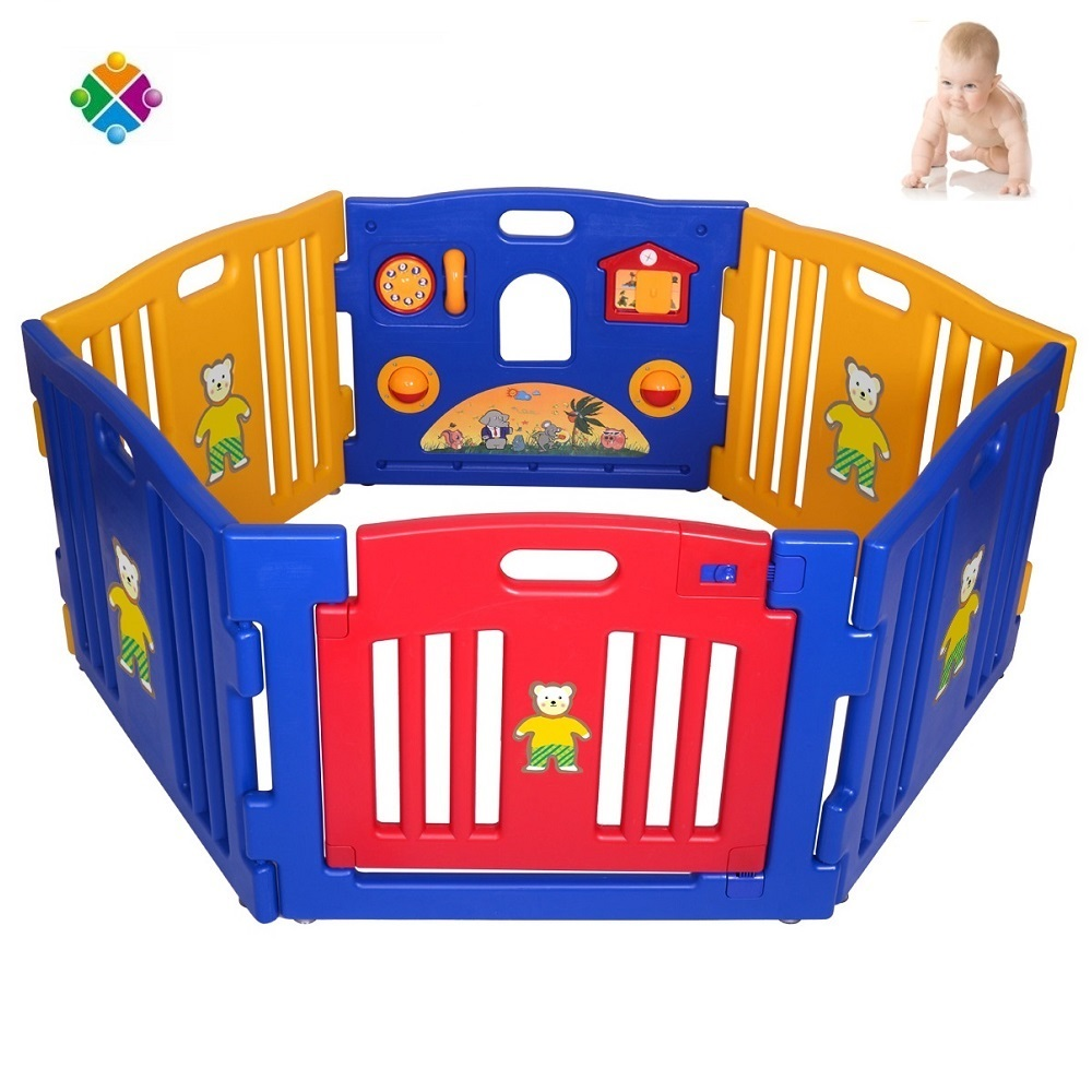 2017 newest durable plastic baby playpen, large baby play pen