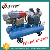 diesel engine driven air compressor Exported to 58 Countries piston air compressor