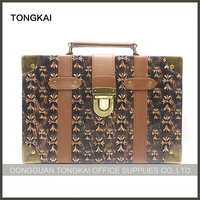 Portable Vintage Leather Travel Suitcase Luggage