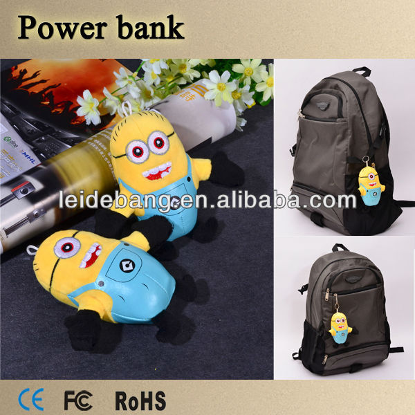 Quality products mini Minions,Pegman power bank, gift cute power bank 4400 mah